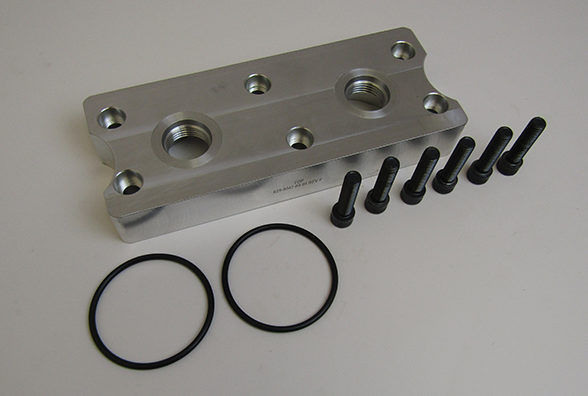 Remote Mount Oil Filter Plate